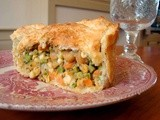 Chickpea pot pie & sweet potato hashbrowns