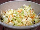 Coleslaw with apples, sharp cheddar and hazelnuts