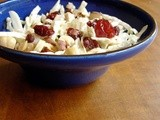 Coleslaw with tart cherries. Or, a brief and muddled history of food photography