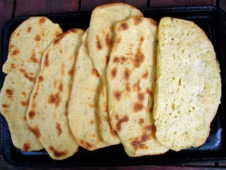 Cornmeal flatbread