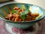 Curried chickpeas and cauliflower in spicy rich tomato sauce