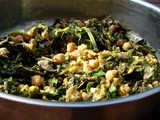 Curry-spiced chickpeas and broccoli rabe