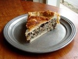 Double crusted pie with roasted mushrooms, french lentils and spinach: The ur Ordinary pie