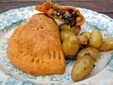 Empanadas with greens, chickpeas and cranberries