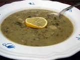 French lentil chard soup with meyer lemon and ginger