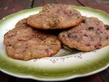 Fresh cherry chocolate chip cookies