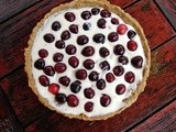 Fresh cherry tart with almond pastry cream