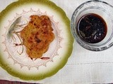 GInger beer-battered zucchini & artichoke fritters