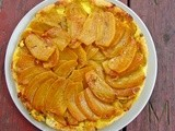 Golden beet & goat cheese tarte tatin and Roasted beets with french feta and hazelnuts