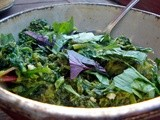 Greens with lime, honey & fresh basil