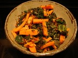 Kale, carrots, couscous