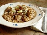 Leek & tarragon risotto with pecans