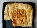 Membrillo, manchego and spinach pie