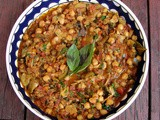 Moroccan spiced chickpea, tomato and pepper stew & couscous, & semolina bread