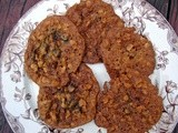 Oatmeal chocolate chip cookies with ginger and marmalade