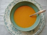 Parsnip, apple, carrot and red lentil soup