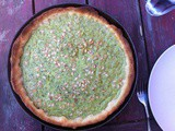PIne nut and herb tart with a yeasted crust