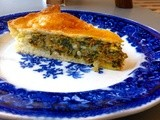 Roasted butternut, spinach, raisin and pine nut pie