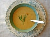 Roasted butternut white bean soup
