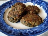 Roasted parsnip, spinach and walnut kofta (with secret melty cheese!)