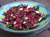 Roasted radish and beet salad