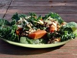 Salad of warm greens, french lentils and wild rice