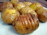 Sliced roasted potatoes