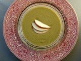 Spinach, apple, avocado bisque with ginger