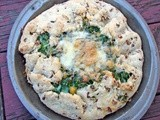 Spinach, chickpea and tarragon galette with a pecan crust