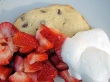 Strawberry shortcake (with chocolate chip shortcake)