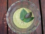 Summery almond sauce with lime, mint, basil, and tamari