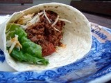 Tacos with spicy black bean mince