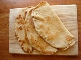 Tender folded whole wheat flatbreads