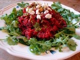 Toasted beet risotto with lime
