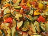 Baked Zucchini, Pepper, Onion, Garlic in Tomato Sauce; Firin Sebze