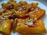 Candied Pumpkin Dessert with Walnuts, Turkish Style – Cevizli Kabak Tatlisi