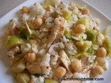 Chickpea Pilaf with Chicken and Vegetables; Turn Your Leftovers into a Complete, Delicious Meal