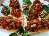 Ezme; Delicious Spread of Tomatoes, Onions, Peppers and Herbs with Red Pepper Paste