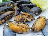 Homemade Stuffed Mussels with Aromatic Rice; Midye Dolma