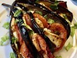Roasted Aubergine with Tomatoes, Herbs and Cheese and Latest News