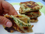Turkish Flat Breads with potato and cheese; Patatesli Gozleme