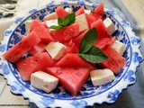 Watermelon and White Cheese (Feta) Salad; Karpuz, Peynir, Ekmek