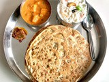 Aloo kulcha / aloo whole wheat paratha