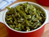 Avarakkai Poriyal Recipe-Broad Beans Curry-Stir Fry Recipes