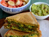 Avocado Sandwich Recipe-Vegetarian Avocado Sandwich Toast-Indian Style