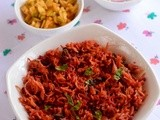 Beetroot Rice-Healthy Indian Beetroot Rice (Pulao) Recipe-Beetroot Recipes