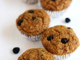 Blueberry Bran Muffins Recipe-Low Fat Moist Blueberry Whole Wheat Bran Muffins