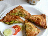 Bombay Masala Toast-Veg Masala Toast Sandwich Recipe-Easy Bread Recipes