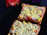 Bread Pizza Recipe-Quick Bread Pizza on Tawa and Oven