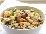 Brown Rice Salad Recipe with Beans-Brown Rice Double Beans Salad